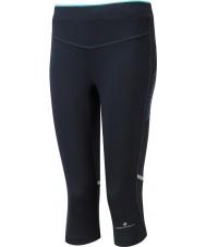 Ronhill RH-002012RH-00196-8 Mesdames aspiration menthe poivrée stretch noir capri collants - taille uk 8 (xs)