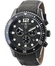 Elliot Brown 929-001-L01 cuir noir Montre bracelet chronographe Mens