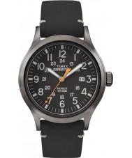Timex TW4B01900 Mens analogique expédition cuir noir élevé montre bracelet