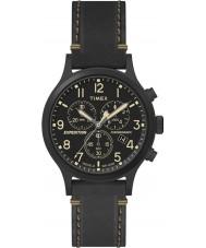 Timex TW4B09100 Mens expédition cuir noir montre bracelet
