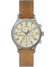 Timex TW4B09200 Mens expédition cuir beige montre bracelet