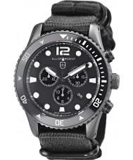 Elliot Brown 929-001-N02 tissu noir montre bracelet chronographe Mens