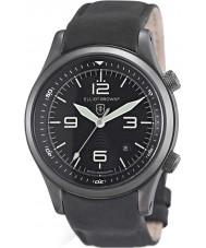 Elliot Brown 202-004-R06 Mens Canford mat cuir noir montre bracelet