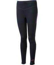 Ronhill RH-001901R292-16 Womens Vizion fluos noir stretch rose collants - taille uk 16 (xl)