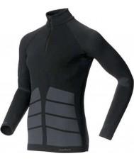 Odlo 180982-15000-S Mens évolution tortue noire cou zip top - taille s
