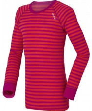 Odlo 10459-70244-104 Enfants col ras du cou rose-violet baselayer top - 3-4 ans (104 cm)