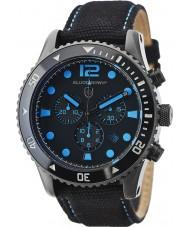 Elliot Brown 929-006-C02 tissu noir montre bracelet chronographe Mens