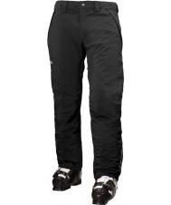Helly Hansen Pantalon de ski noir isolé à la vitesse des hommes