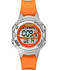 Timex TW5K96800 Mesdames marathon taille moyenne résine orange, montre bracelet chronographe