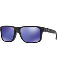Oakley Oo9102-26 holbrook julian wilson noir mat - lunettes de soleil violet iridium