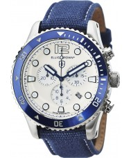 Elliot Brown 929-008-C01 tissu bleu montre bracelet chronographe Mens