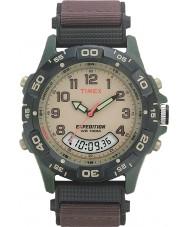 Timex T45181 crème Mens expédition brune montre combo