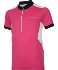 Dare2b DKT018-1Z0034 Enfants Hotfoot t-shirt en jersey rose électrique - 34 pouces