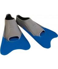 Zoggs 300395 Ultra bleu et gris ailettes de formation - uk taille 12