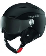 Bolle 31253 Backline visière douce casque de ski noir et argent avec visière gris - 59-61cm