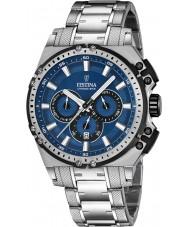 Festina F16968-2 Mens chrono vélo acier argenté montre chronographe
