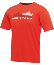 Dare2b T-shirt rouge ardent rouge