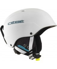 Cebe CBH174 Concours blanc mat bleu casque de ski - 62-64cm