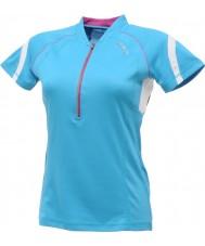 Dare2b DWT078-3FN12L Mesdames rafraîchies maillot bleu t-shirt - taille s (12)