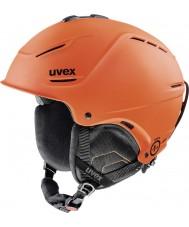 Uvex 5661538003 P1us orange foncé mat casque de ski - 52-55cm
