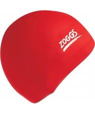 Zoggs 300604-RED Casquette rouge de silicone