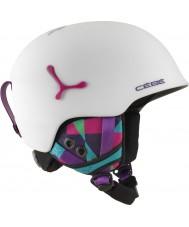 Cebe CBH188 Suspense matte deluxe graphiques blanc casque de ski - 54-56cm