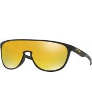 Oakley trillbe Oo9318-06 noir mat - lunettes de soleil iridium 24k