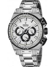 Festina F16968-1 Mens chrono vélo acier argenté montre chronographe
