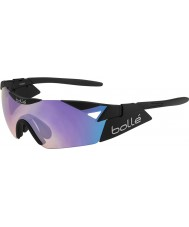 Bolle 6ème sens s noir mat des lunettes de soleil bleu-violet