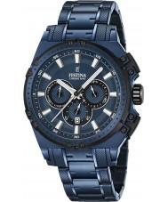 Festina F16973-1 Mens chrono vélo bleu acier montre chronographe
