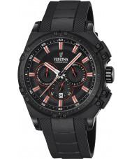 Festina F16971-4 Mens chrono vélo caoutchouc noir montre chronographe
