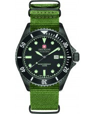 Swiss Military 6-4279-13-007 Mens lion de mer en nylon vert montre bracelet