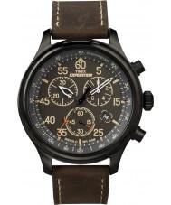 Timex T49905 Mens noir domaine de l'expédition brune montre chronographe