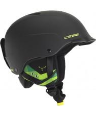 Cebe CBH99 Concours visière matte casque noir et vert ski - 55-58cm