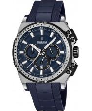 Festina F16970-2 Mens chrono vélo caoutchouc bleu montre chronographe