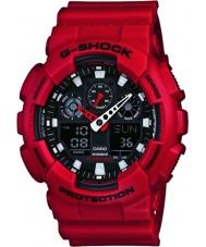 Casio GA-100B-4AER Mens g-shock temps du monde résine rouge montre bracelet