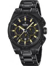 Festina F16969-3 Mens chrono vélo acier noir montre chronographe