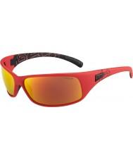 Bolle Recoil mat tns polarisée rouge des lunettes de soleil de feu