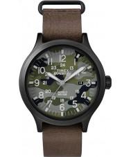 Timex TW4B06600 Mens scout cuir marron montre bracelet