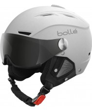 Bolle 21267 Backline visière souple blanc et argent casque de ski - 54-56cm