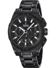 Festina F16969-1 Mens chrono vélo acier noir montre chronographe