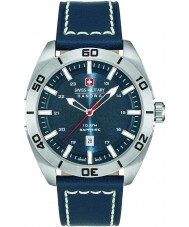 Swiss Military 6-4282-04-003 Mens champion cuir bleu montre bracelet