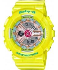 Casio BA-110CA-9AER Ladies baby-g le temps du monde résine jaune montre bracelet