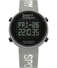 Superdry SYL203E Mesdames podomètre digi silicone gris montre bracelet