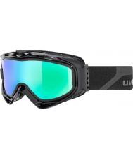 Uvex 5502132126 G.gl 300 décoller noir mat - vert lunettes miroir de ski avec de la fumée bleue lentille de remplacement