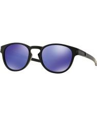 Oakley Oo9265-06 mat verrou noir - lunettes de soleil violet iridium