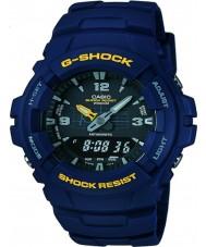 Casio G-100-2BVMUR Mens g-shock résine bleue montre bracelet