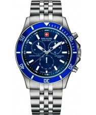 Swiss Military 6-5183-7-04-003 Mens phare chrono montre en argent