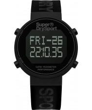 Superdry SYG203BB Mens digi podomètre silicone noir montre bracelet