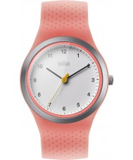 Braun BN0111WHPKL Ladies sport néon pêche montre de bracelet en silicone
